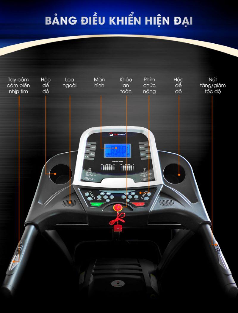 Màn hình hiển thị của máy chạy bộ cần sắc nét và hiển thị rõ ràng các thông số giúp dễ dàng kiểm soát trong quá trình luyện tập